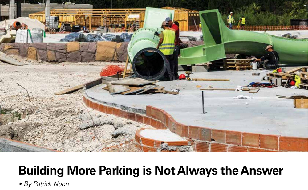 Сonstruction of parking spaces